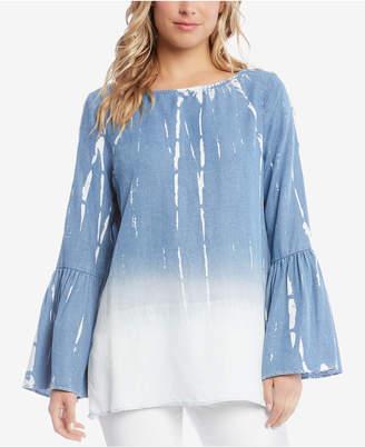 Karen Kane Dip-Dye Bell-Sleeve Top