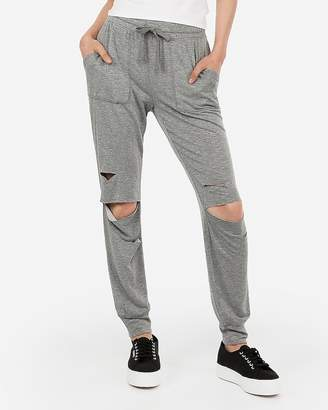 Express One Eleven Ripped Terry Jogger Pant