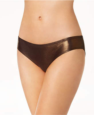 Vince Camuto Metallic Cheeky Hipster Bikini Bottoms