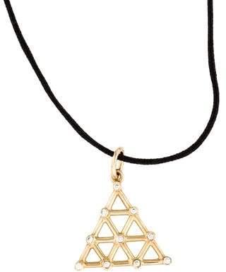 Ileana Makri 14K Diamond Triangle Pendant Necklace