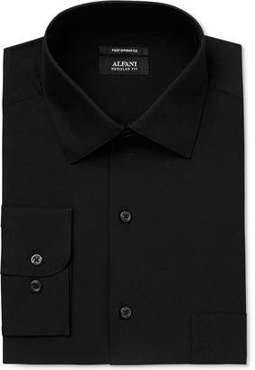 Alfani Men's Classic/Regular Fit Performance Stretch Solid Dress Shirt, Created for Macy's