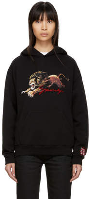 Givenchy Black Embroidered Lion Hoodie