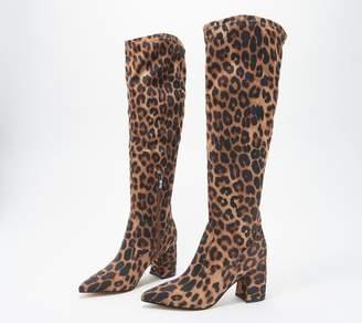 Marc Fisher Leopard Tall Shaft Boots - Retie