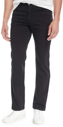 Brioni Men's Straight-Leg Denim Jeans, Black