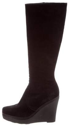 Castaner Suede Knee-High Boots