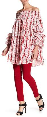 Gracia Smocked Off-the-Shoulder Ruffle Sleeve Dress
