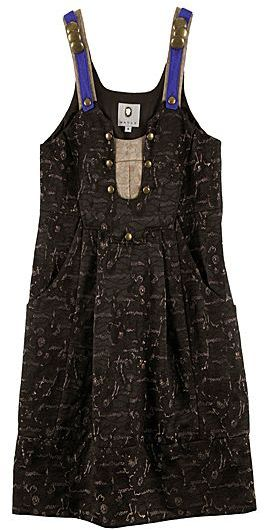 Mayle Gold Jacquard Margarita Dress
