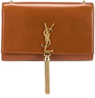 Saint Laurent Medium Kate Monogramme Chain Tassel Bag in Brick   FWRD