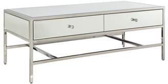 Acme Weigela 2-Drawer Coffee Table in Mirrored and Chrome