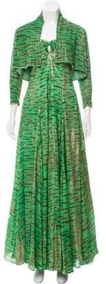 Zac Posen Strapless Silk Gown