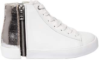 Diesel Metallic & Leather High Top Sneakers
