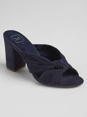 Gap Knotted Strap Block Heel Mules