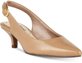 Easy Street Shoes Faye Slingback Kitten-Heel Pumps Women Shoes