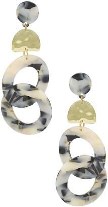 Ettika Linked Hoop Earrings