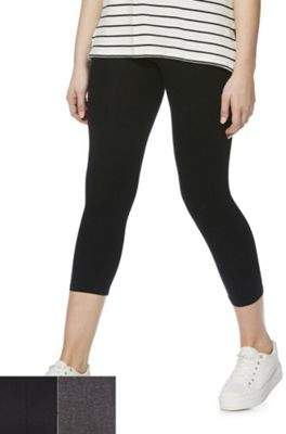 F&F 2 Pack Of Cropped Leggings 6