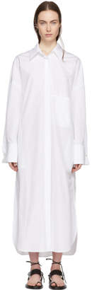 Ann Demeulemeester White Byron Shirt Dress