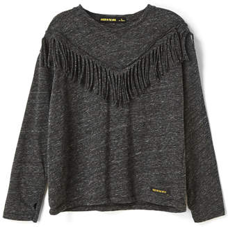 Finger In The Nose BIGTEE Fringes Long Sleeve T-Shirt