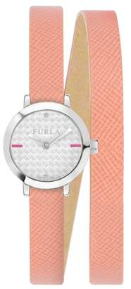 Furla Women's Vittoria Crystal Accented Analog Quartz Wraparound Watch, 21mm