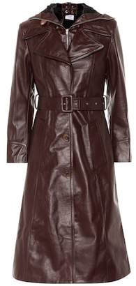 Vetements Hooded leather trench coat