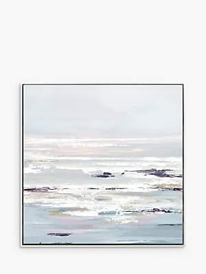 John Lewis & Partners Valeria Mravyan - Purple Tides Framed Canvas Print, 104.5 x 104.5cm, Purple