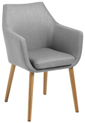 Chloé Light Grey Carver Dining Chair
