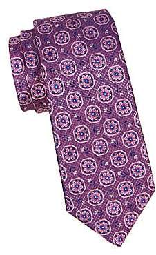 Canali Men's Flower Medallion Silk Tie