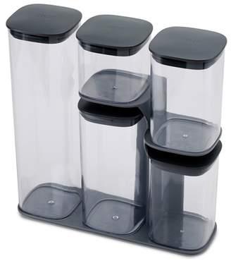 Joseph Joseph Grey 'Podium' 5 Piece Storage Jar Set With Stand