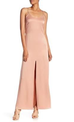 Alice + Olivia Elza Silk front Slit Maxi Dress f1a1396d7
