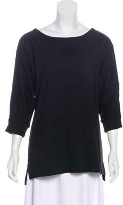 Dries Van Noten Jersey Scoop Neck Sweatshirt