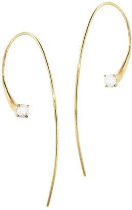 ara Jade Trau Hoop Earrings - Yellow Gold