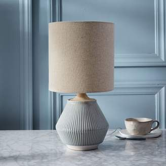west elm Roar + RabbitTM Ripple Ceramic Table Lamp - Small Narrow (Cool Gray)