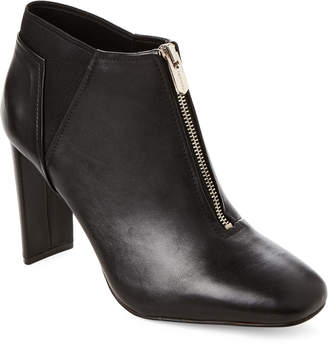 Tahari Black Gally Leather Ankle Booties
