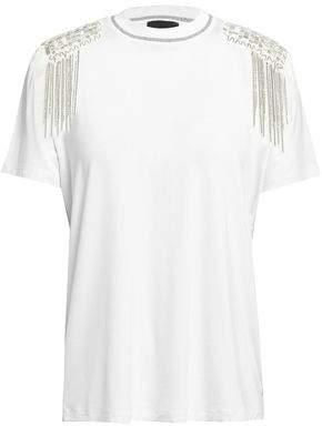 Just Cavalli Embellished Stretch-Jersey T-Shirt