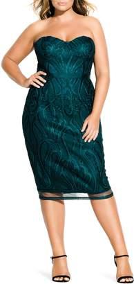 City Chic Antonia Strapless Sheath Dress