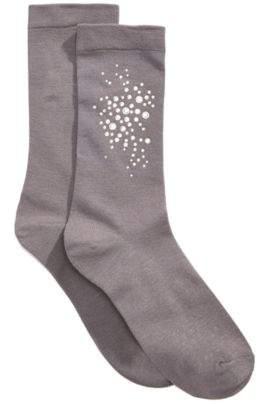 Hue Women's Rhinestone Cluster Socks