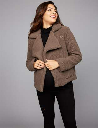 A Pea in the Pod Bb Dakota Button Front Cotton Woven Maternity Jacket