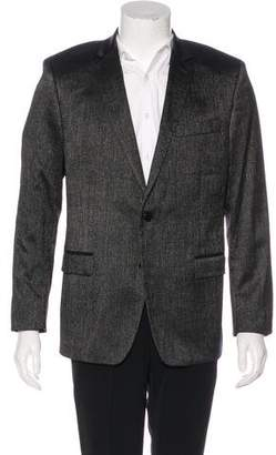 Versace Metallic Wool Blazer