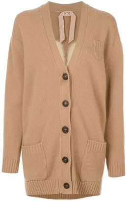 No.21 embellished clover leaf cardigan