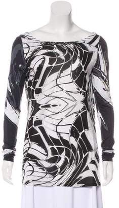 Emilio Pucci Printed Long Sleeves Top