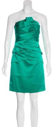 Phoebe Couture Strapless Knee-Length Dress