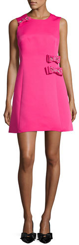 Kate SpadeKate Spade New York Sleeveless Crepe A-Line Dress, Pink