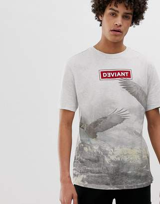 Asos DESIGN oversized t-shirt with deviant bird print