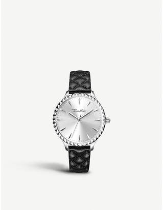 Thomas Sabo WA0320 Rebel at Heart stainless steel and leather watch