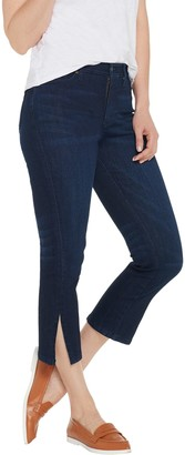 Isaac Mizrahi Live! Regular TRUE DENIM Ankle Jeans w/ Side Slits