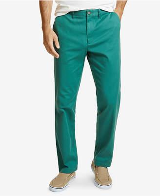 Nautica Men Classic Flat-Front Deck Pants