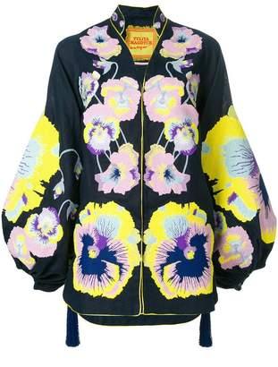 Yuliya Magdych pansies embroidered tunic