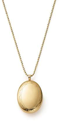 "Bloomingdale's 14K Yellow Gold Oval Swirl Locket Necklace, 22"" - 100% Exclusive"