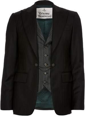 Waistcoat Suit Jacket - Charcoal