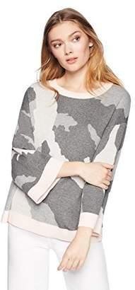 Cable Stitch Women's Camo Jacquard Sweater