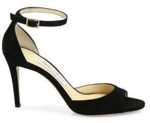 Jimmy Choo Annie Suede d'Orsay Ankle-Strap Sandals